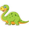 Cute dinosaur mascot isolated on white background vector image vector image