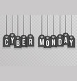 cyber monday price sale text labels transperent vector image