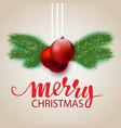 design a christmas postcard vector image vector image