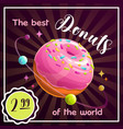donut planet banner food planet vector image vector image