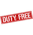 duty free square grunge stamp vector image