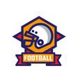 football logo template american emblem vector image vector image