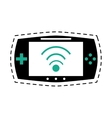 game console portable play device dot line vector image vector image