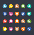 Glyphs Colored Icons 9 vector image vector image