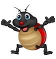 Happy ladybug cartoon vector image