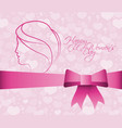happy womens day greeting poster vector image