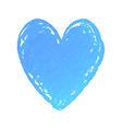 heart shape drawn with blue vector image vector image