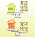 Housing costs vector image