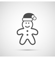 Icon Christmas gingerbread man for holiday season vector image