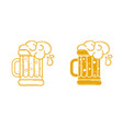 icon glass of beer linear style vector image vector image