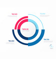 infographic round chart template four vector image vector image
