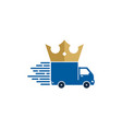 king delivery logo icon design vector image vector image