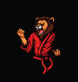 lion karate vector image vector image