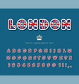 london font british national flag colors bright vector image