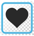 Love Heart Icon In a Frame vector image