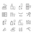 make up sign black thin line icon set vector image vector image