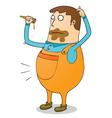 Man eats icecream vector image vector image