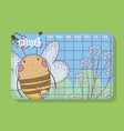 march calendar with bee cute animal vector image