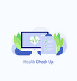 medical check up concept vector image vector image
