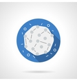 Medical microbiology blue round flat icon vector image