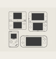 mobile video console video game console portable vector image vector image