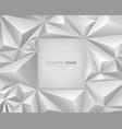 modern white abstract frame design vector image vector image