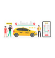 online taxi concept vector image