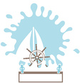 Sailboat splash rudder Silhouette Isolated Design