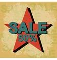 Sale Vintage Poster vector image vector image