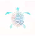 Sea turtle silhouette vector image