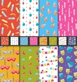 Set Carnival Seamless Wallpaper vector image vector image