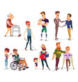 set cartoon people vector image