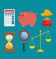 set saving money icon vector image