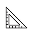 set square icon vector image