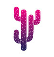 silhouette natural cactus summer plant desert vector image vector image
