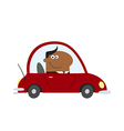 Smiling Businessman Driving to Work vector image vector image
