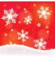snowfall vector image vector image