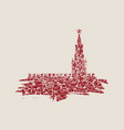 spasskaya tower of kremlin in moscow vector image vector image
