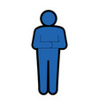 stand up man icon vector image vector image