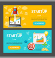 startup banner horizontal set vector image vector image