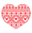 Traditional Ukrainian folk art heart pattern vector image vector image
