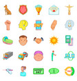 trust icons set cartoon style vector image vector image
