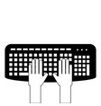 user with keyboard icon vector image vector image