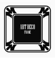 vintage art deco frame vector image