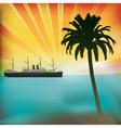 Vintage Sea Cruise vector image vector image