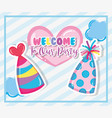 welcome to our party vector image