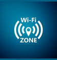wi-fi network icon isolated on blue background vector image vector image
