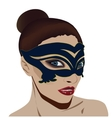 Woman in mask vector image