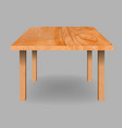 Wooden textured table vector image