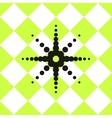 Floor ceramic tiles pattern green with black star vector image